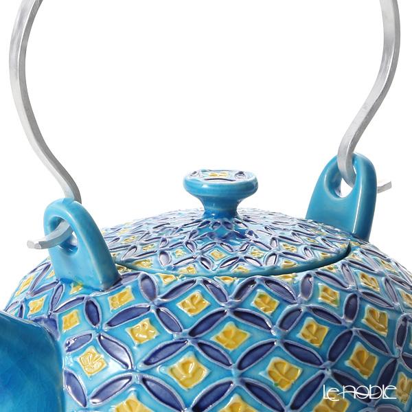Kyo ware / Kiyomizu ware Cochin Shippo Blue S0212 Tea Pot (L) 600ml