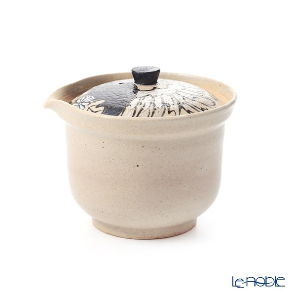 京焼・清水焼 ティーポット(宝瓶) M0299金銀彩鶴花 250ml
