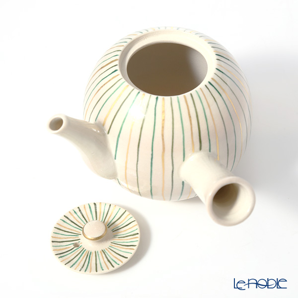 Kyo ware / Kiyomizu ware 'Gohon Sai Tokusa' S0274 Tea Pot (side handle) 250ml