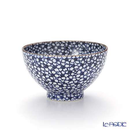 Kyo ware / Kiyomizu ware 'Sometsuke Blue Cherry Flower' T0322 Tea Cup 200ml (L)