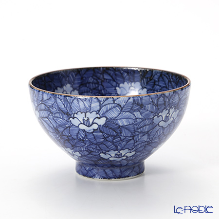 T. Nishikawa & Co. Inc - Kyoto ware / Kiyomizu ware  Kumidashi Teacup L, Sometsuke Camellia L, T0324