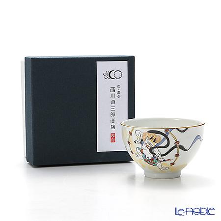 Kyo ware / Kiyomizu ware 'Gilded(Gold) Raijin' S0327 Tea Cup 180ml