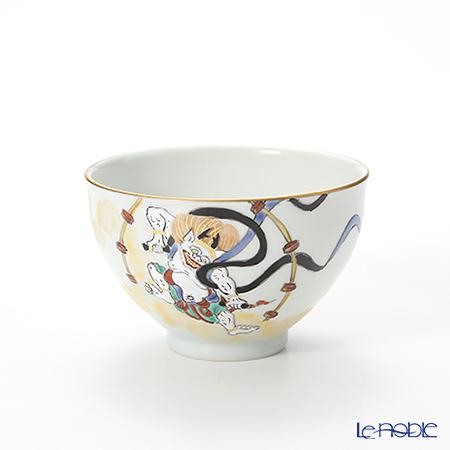 T. Nishikawa & Co. Inc - Kyoto ware / Kiyomizu ware  Kumidashi Teacup, Gilded Raijin, S0327