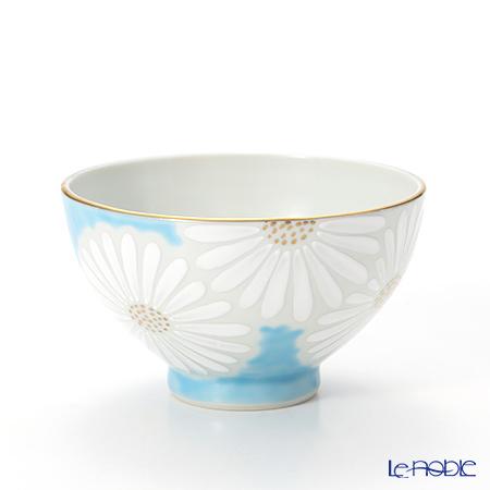 T. Nishikawa & Co. Inc - Kyoto ware / Kiyomizu ware  Kumidashi Teacup L, Marguerite L BL, K0333