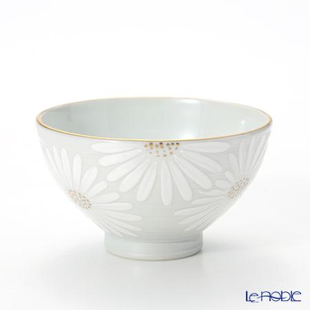 京焼・清水焼 汲出し碗 大 K0339 白菊刷毛目銀彩