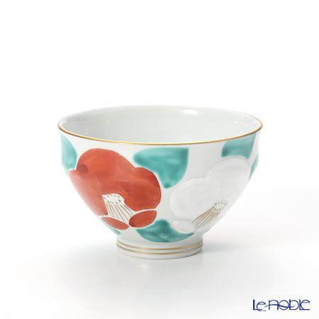 京焼・清水焼 汲出し碗 K0341 彩紅白椿