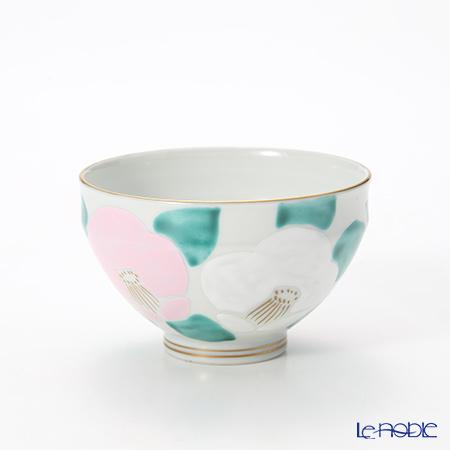 T. Nishikawa & Co. Inc - Kyoto ware / Kiyomizu ware  Kumidashi Teacup, Camellia PK, K0342