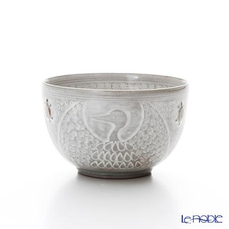 T. Nishikawa & Co. Inc - Kyoto ware / Kiyomizu ware  Kumidashi Teacup, Tsurukame, K0346