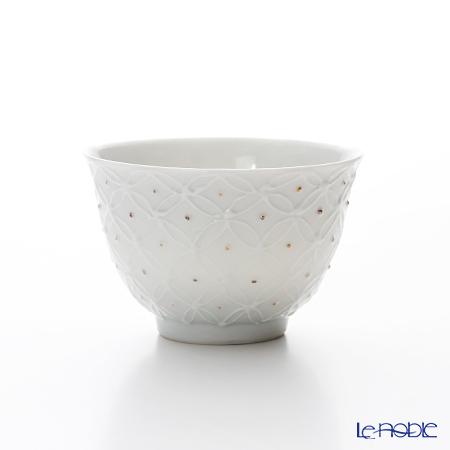 T. Nishikawa & Co. Inc - Kyoto ware / Kiyomizu ware  Kumidashi Teacup, HakujiShippomonGD&SV S, S0350