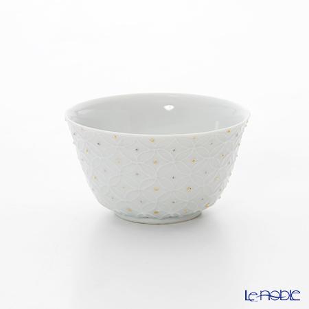 T. Nishikawa & Co. Inc - Kyoto ware / Kiyomizu ware  Kumidashi Teacup, HakujiShippomonGD&SV L, S0351