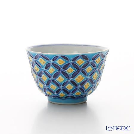 T. Nishikawa & Co. Inc - Kyoto ware / Kiyomizu ware  Kumidashi Teacup, Cochin Shippo BL S, S0352