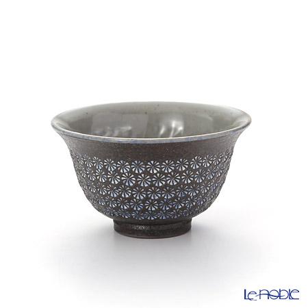 T. Nishikawa & Co. Inc - Kyoto ware / Kiyomizu ware  Kumidashi Teacup, Nanban Mishimazume, M0364