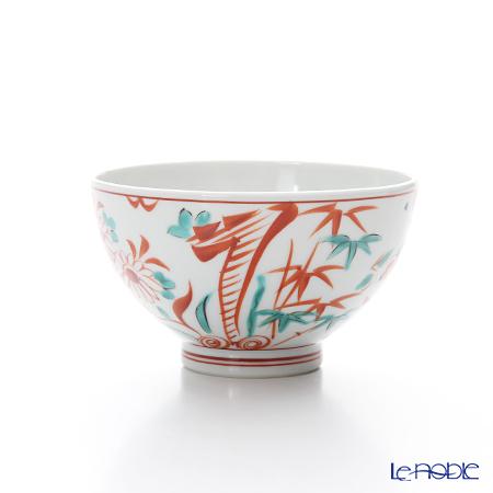 Kyo ware / Kiyomizu ware 'Sai Akae' K0373 Tea Cup (L) 200ml
