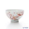 Kyo ware / Kiyomizu ware 'Aka Kozanji' Red S0376 Tea Cup 200ml (L)