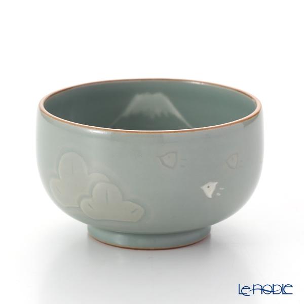 京焼・清水焼 汲出し碗 S0389 富士青瓷松千鳥 150ml