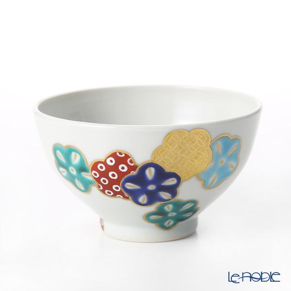 Kyo ware / Kiyomizu ware 'Gosai Hanamai' Red K0395 Tea Cup (L) 200ml