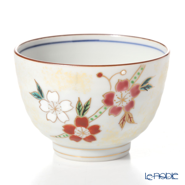 Kyo ware / Kiyomizu ware 'Kinsaihanakawari (Flower)' S2322 Tea Cup 250ml (set of 5 patterns)