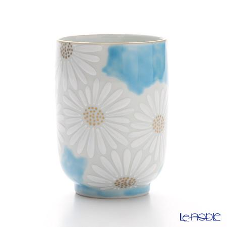 T. Nishikawa & Co. Inc - Kyoto ware / Kiyomizu ware  Teacup, Marguerite BL, K0416