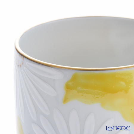 Kyo ware / Kiyomizu ware 'Marguerite' Yellow K0419 Tea Cup 220ml