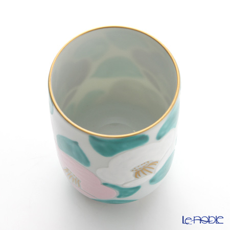 Kyo ware / Kiyomizu ware 'Camellia' Pink&White K0423 Tea Cup 220ml