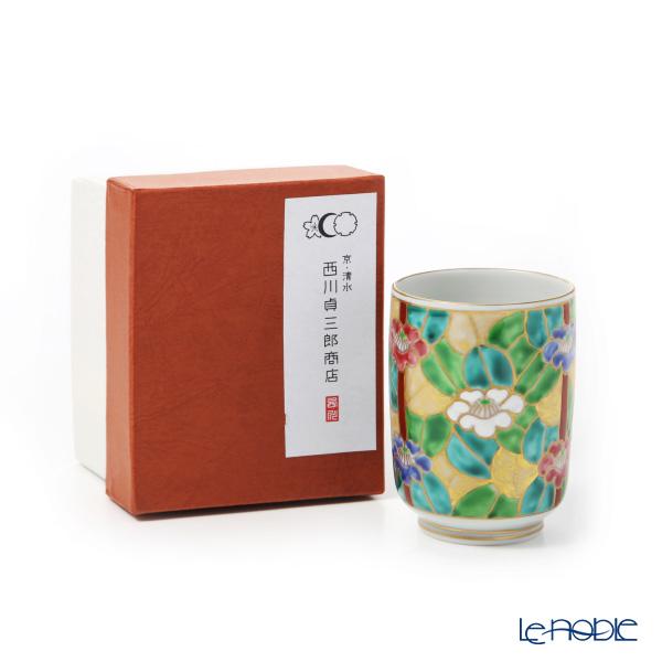 Kyo ware / Kiyomizu ware 'Kinsai Tsubaki (Camellia)' K0426 Tea Cup 220ml