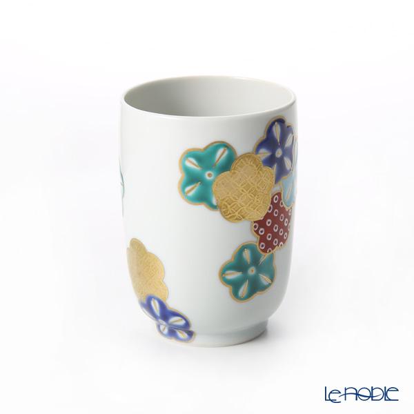 Kyo ware / Kiyomizu ware 'Gosai Hanamai' Red K0439 Tea Cup & Saucer 220ml