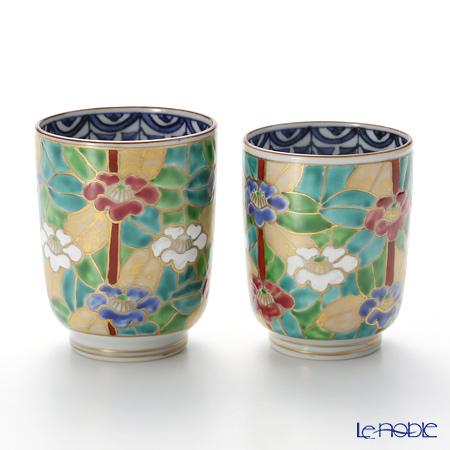 T. Nishikawa & Co. Inc - Kyoto ware / Kiyomizu ware  Teacup  (2pcs/set), Gilded Camellia, S0475