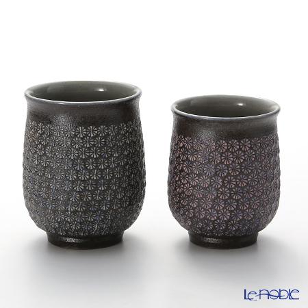T. Nishikawa & Co. Inc - Kyoto ware / Kiyomizu ware  Teacup  (2pcs/set), Nanban Mishimazume, M0481