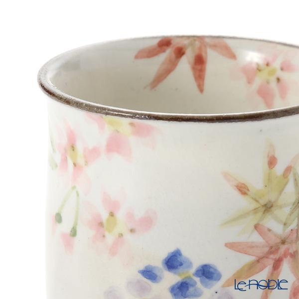 Kyo ware / Kiyomizu ware 'Flower' S0492 Tea Cup (set of 2)