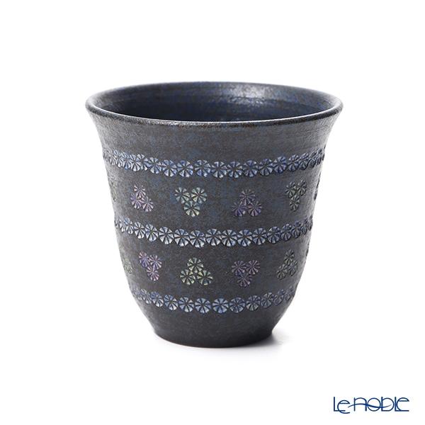 Kyo ware / Kiyomizu ware 'Nanban Mishimazume' M0780 Free Cup Tumbler 300ml