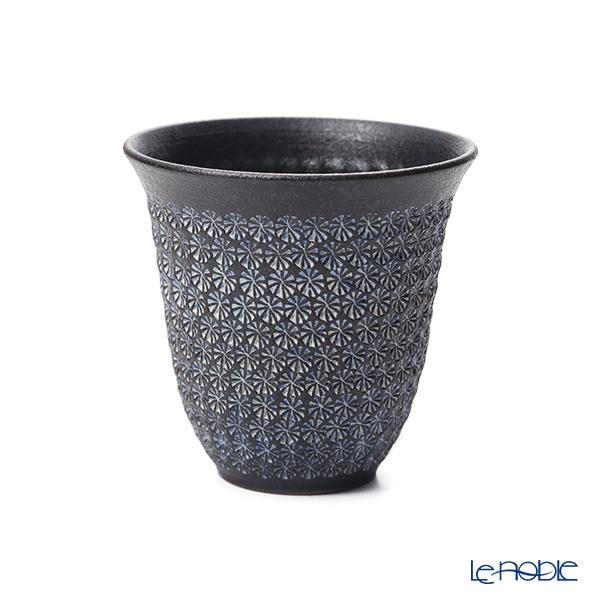 Kyo ware / Kiyomizu ware 'Nanban Mishimazume' Blue M0782 Free Cup Tumbler 300ml