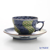 京焼・清水焼 コーヒーカップ&ソーサー珈琲碗皿 S0703金七宝捻祥瑞 緑