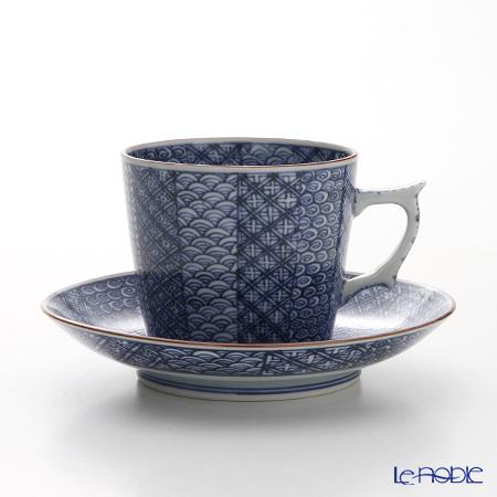 京焼・清水焼 コーヒーカップ&ソーサー珈琲碗皿 T0706 祥瑞詰