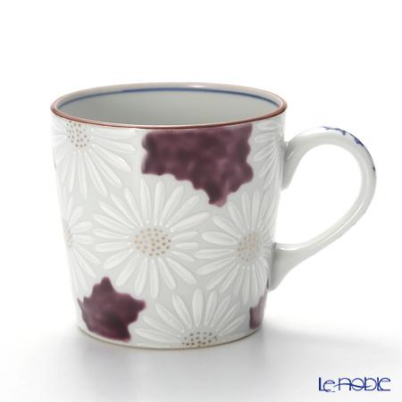 京焼・清水焼 マグカップ K0724 白菊紫地
