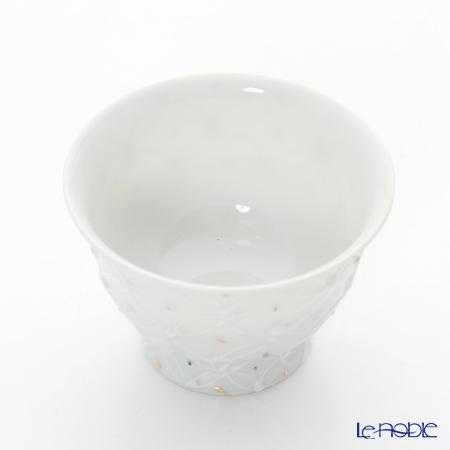 Kyo ware / Kiyomizu ware 'Hakuji Shippomon' S0980 Tea Cup 50ml (S)