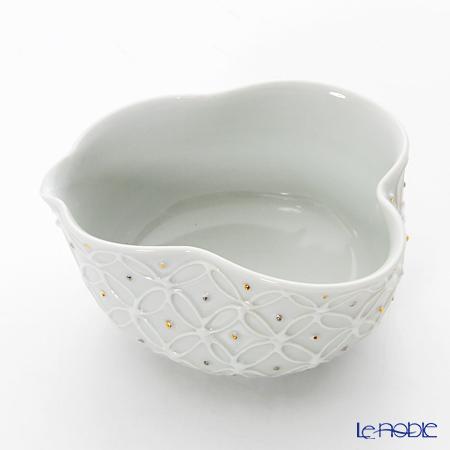 Kyo ware / Kiyomizu ware 'Hakuji Shippomon' S0833 Container (Bowl) 100ml