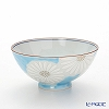 Kyo ware / Kiyomizu ware 'Marguerite' Blue K0501 Rice Bowl 225ml