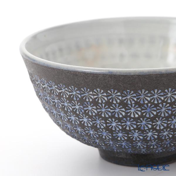 Kyo ware / Kiyomizu ware 'Nanban Mishimazume' M0571 Rice Bowl 220ml+280ml (set of 2)