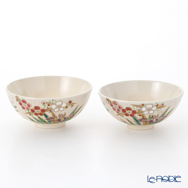 京焼・清水焼 組飯碗 S2509四季彩花 ペア