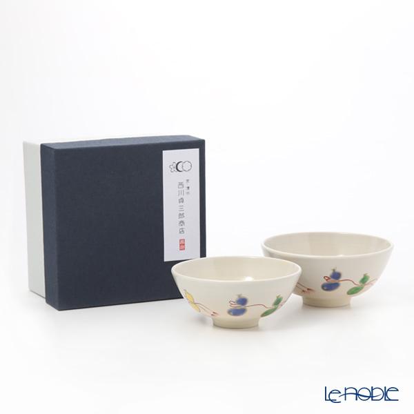 Kyo ware / Kiyomizu ware 'Gohon Sai Muhyo' S0567 Rice Bowl 220ml+260ml (set of 2)