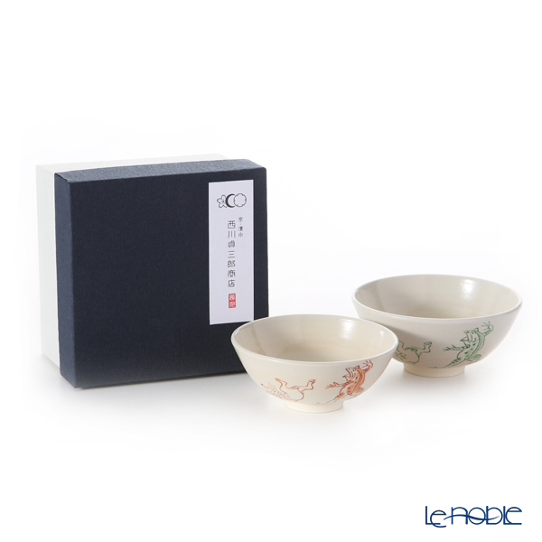 Kyo ware / Kiyomizu ware 'Gohon Kozanji' S0566 Rice Bowl 220ml+260ml (set of 2)