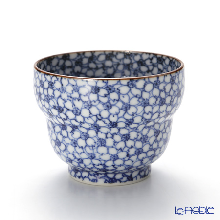 Kyo ware / Kiyomizu ware 'Sometsuke Blue Cherry Flower' T0920 Sake / Tea Cup 100ml