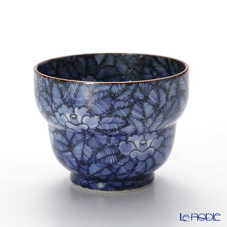 T. Nishikawa & Co. Inc - Kyoto ware / Kiyomizu ware  Sakecup, Sometsuke Camellia, T0922