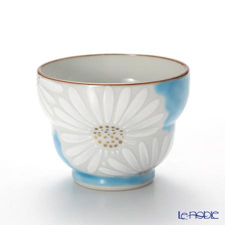 T. Nishikawa & Co. Inc - Kyoto ware / Kiyomizu ware  Sakecup, Marguerite BL, K0926