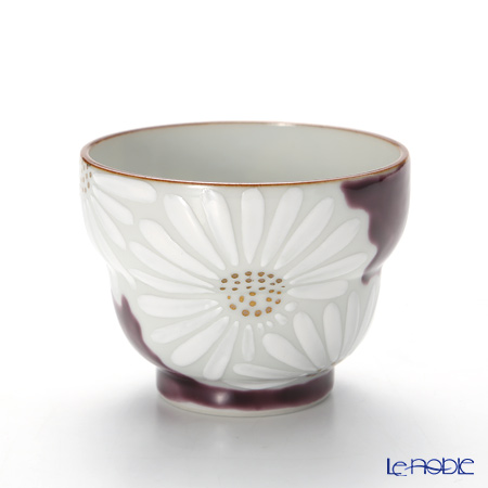 T. Nishikawa & Co. Inc - Kyoto ware / Kiyomizu ware  Sakecup, Marguerite PP, K0927