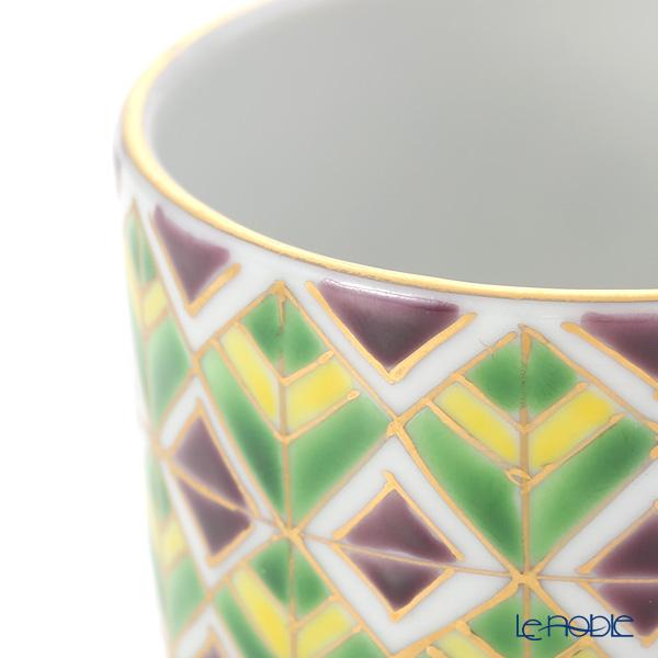 Kyo ware / Kiyomizu ware 'Sai Mangekyomon' Green K0987 Sake / Tea Cup 90ml