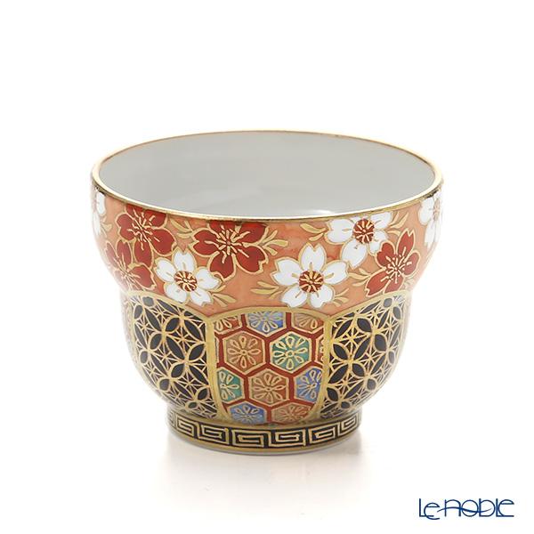 Kyo ware / Kiyomizu ware 'Fuchi Hanakomon' T0999 Sake / Tea Cup 100ml