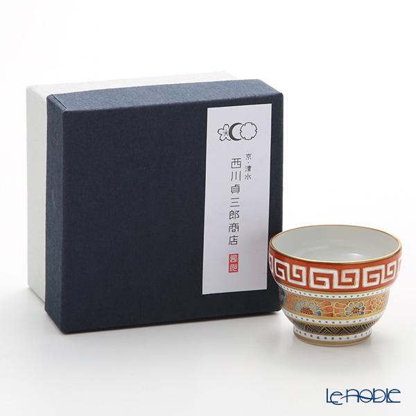 Kyo ware / Kiyomizu ware 'Sai Obikomon' T09102 Sake / Tea Cup 100ml