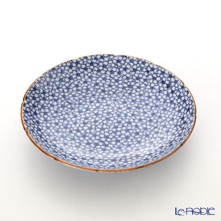 京焼・清水焼 皿 プレート 15cm 011492 五寸皿染付桜詰