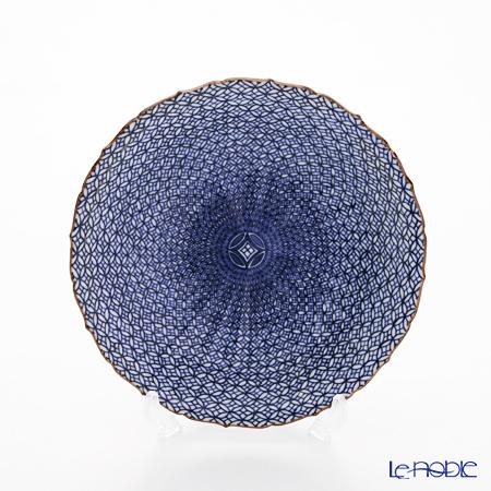 T. Nishikawa & Co. Inc - Kyoto ware / Kiyomizu ware  Plate, Sometsuke Shippo, 011493
